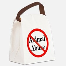 no_animal_abuse Canvas Lunch Bag