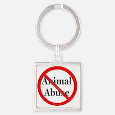 no_animal_abuse Square Keychain