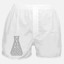 Chemical Elements Erlenmeyer - black  Boxer Shorts