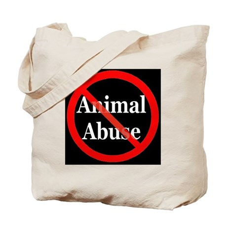 no_animal_abuse_black Tote Bag