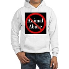no_animal_abuse_black Hoodie