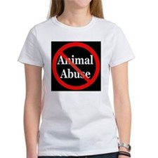 no_animal_abuse_black Tee