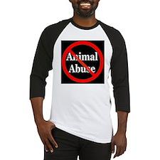 no_animal_abuse_black Baseball Jersey