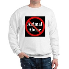 no_animal_abuse_black Sweatshirt