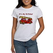 Fire Truck Birthday Tee