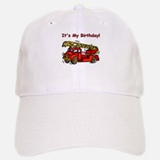 Fire Truck Birthday Baseball Baseball Cap