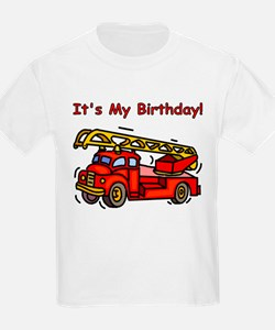 Fire Truck Birthday Kids T-Shirt