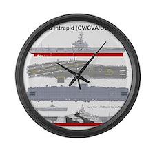 Essex-Intrepid-Straight_T-Shirt_B Large Wall Clock