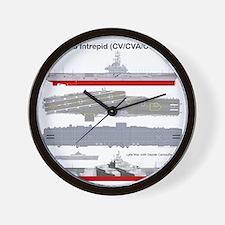 Essex-Intrepid-Straight_T-Shirt_Back Wall Clock
