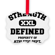 Strength Defined Collegiate Shirt Ornament