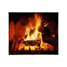 Fireplace Throw Blanket
