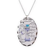 Respiratory is Complicated Necklace Oval Charm
