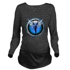 Dragon 03 - Blue Long Sleeve Maternity T-Shirt