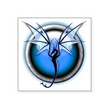 """Dragon 03 - Blue Square Sticker 3"""" x 3"""""""