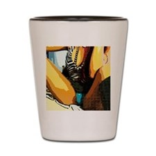 open leg comics Shot Glass