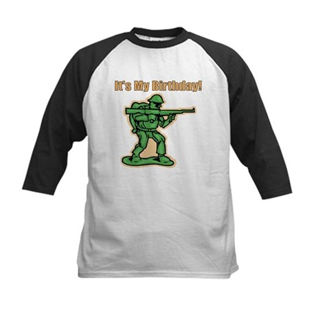 Green Army Men Birthday Kids Baseball Jersey