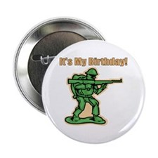 Green Army Men Birthday Button