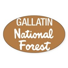 Gallatin National Forest (Sign) Sticker (Rectangul