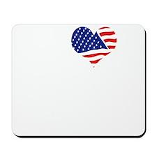 I LOVE GEORGIA - WHITE Mousepad