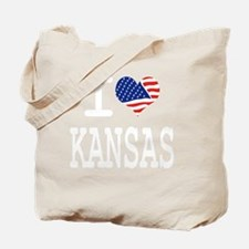 I LOVE KANSAS - WHITE Tote Bag