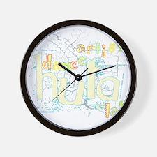 dance artist hula-la for black copy Wall Clock