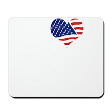 I LOVE NEBRASKA - WHITE Mousepad