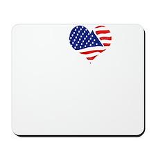 I LOVE NEW JERSEY - WHITE Mousepad