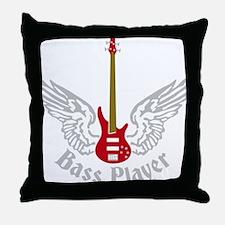 Bass Guitar 07-2011 F 3c Throw Pillow
