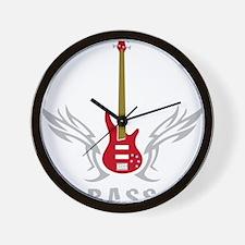 Bass Guitar 07-2011 L 3c Wall Clock