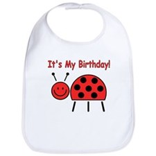 Ladybug Birthday Bib