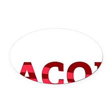 baconBetter01B Oval Car Magnet
