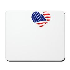 I LOVE NORTH DAKOTA - WHITE Mousepad