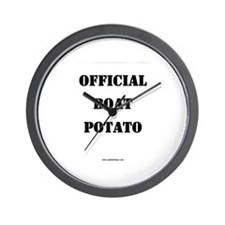 OFFICIAL BOAT POTATO Wall Clock