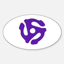 Record Insert Oval Decal