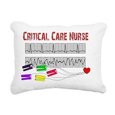 Critical Care Nurse EKG  Rectangular Canvas Pillow