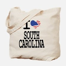 I LOVE SOUTH CAROLINA Tote Bag