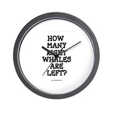 RIGHT WHALES...LEFT? Wall Clock