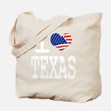 I LOVE TEXAS - WHITE Tote Bag