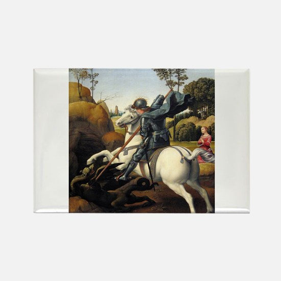 Saint George and the Dragon - Raphael Magnets