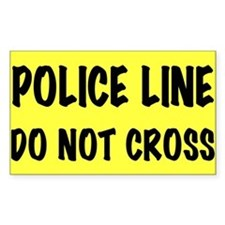Police Line Rectangle Decal