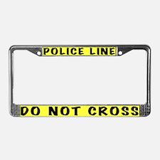 Police Line License Plate Frame