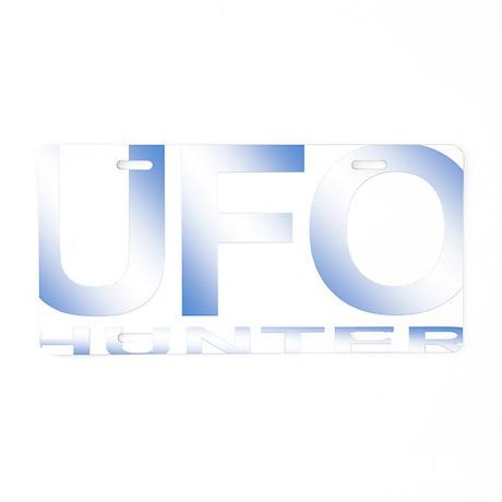 ufo hunter blue Aluminum License Plate