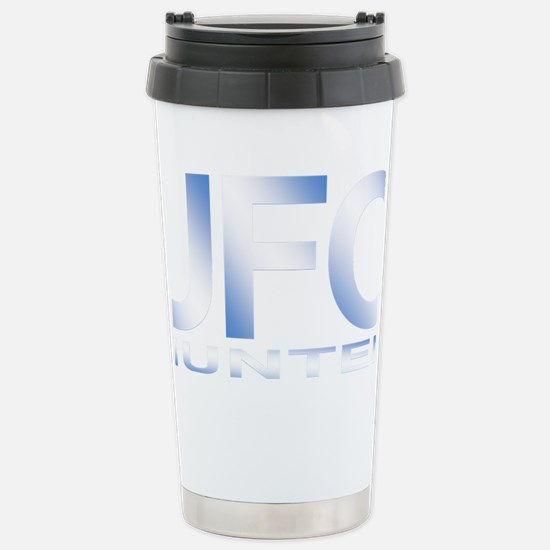 ufo hunter blue Stainless Steel Travel Mug