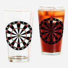 Dart Board Classic Drinking Glass