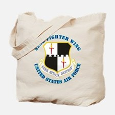 52ifighter-wing-txt Tote Bag