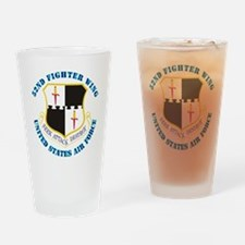 52ifighter-wing-txt Drinking Glass