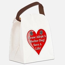 adopt_a_shelter_dog_white_transpa Canvas Lunch Bag