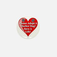 adopt_a_shelter_dog_white_transparent Mini Button