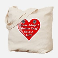 adopt_a_shelter_dog_white_transparent Tote Bag