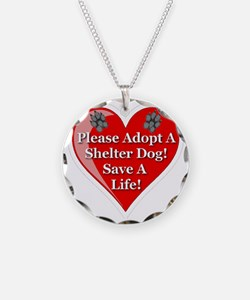 adopt_a_shelter_dog_white_tr Necklace